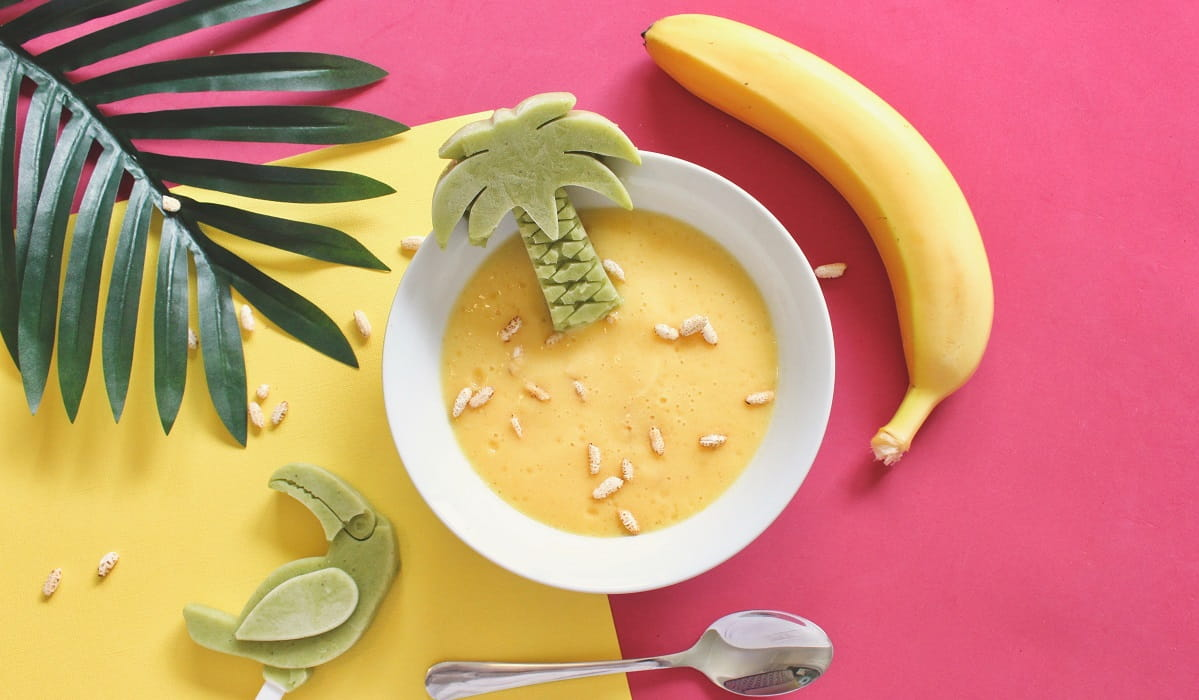 Helado saludable de plátano